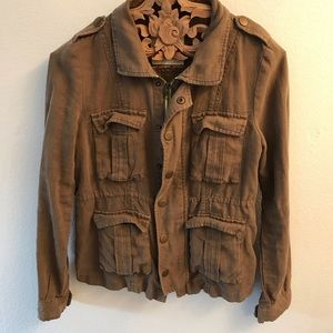 Free People linen utility jacket